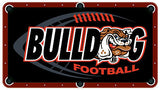 Bulldog Football Billiards Cloth