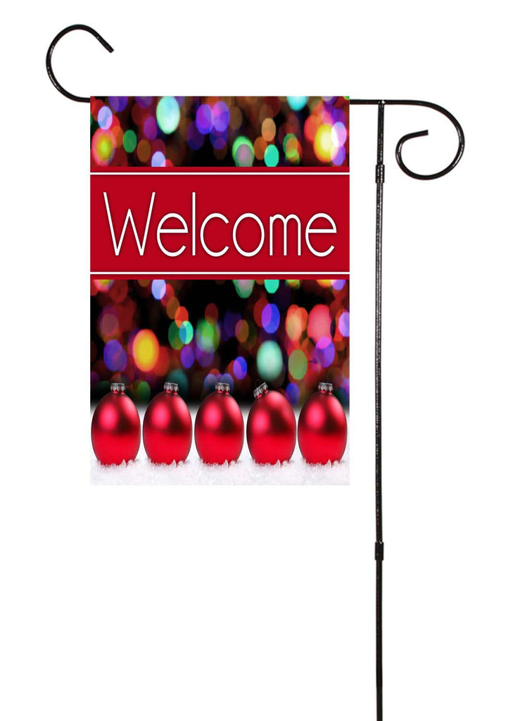 Christmas Lights & Ornaments Garden Flag