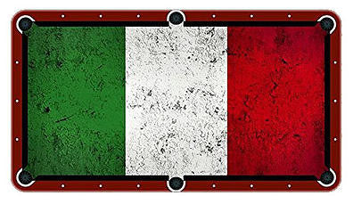 Italian Flag Billiards Cloth