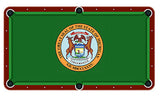 Michigan State Seal Billiards Cloth