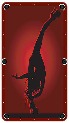 Exotic Dancer Billiards Cloth