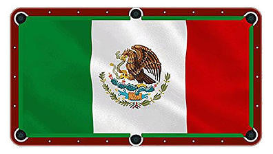 Mexican Flag Billiards Cloth