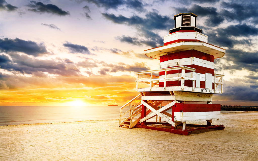 Lifeguard Hut On South Beach Vinyl Print