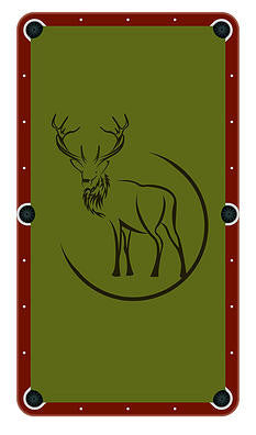 Deer Billiards Cloth