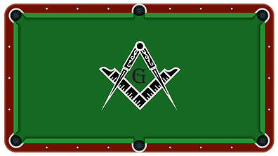 Free Mason Symble Billiards Cloth