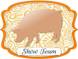 "Pig ""Show Team"" Dry Erase Stall Sign or Door Hanger"