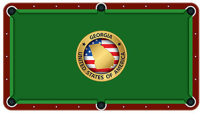 State Of Georgia Emblem Billiards Cloth