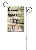 Farm Life - Cow, Pig, Goat or Rabbit Garden Flag