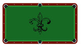 Fluer De Lis Billiards Cloth