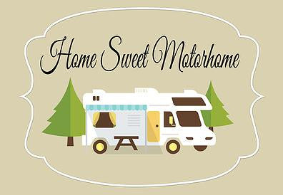 Home Sweet Motorhome Welcome Mat