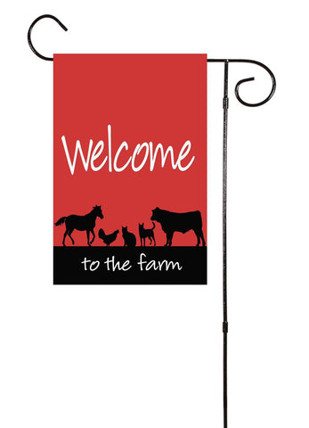 Welcome To The Farm Garden Flag