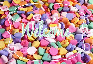 Conversations Hearts - Valentines Welcome Mat
