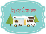 Happy Campers Door Hanger