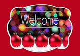 Christmas Lights & Ornaments Welcome Mat