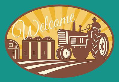 Tractor Farming Welcome Mat