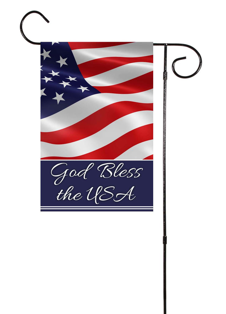 God Bless The USA Garden Flag