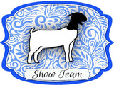 "Goat ""Show Team"" Dry Erase Stall Sign or Door Hanger"