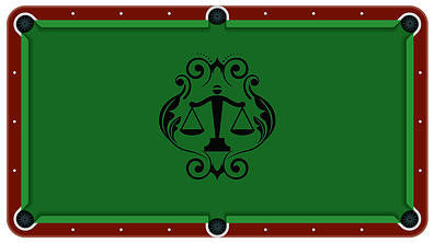 Justice Scales Billiards Cloth