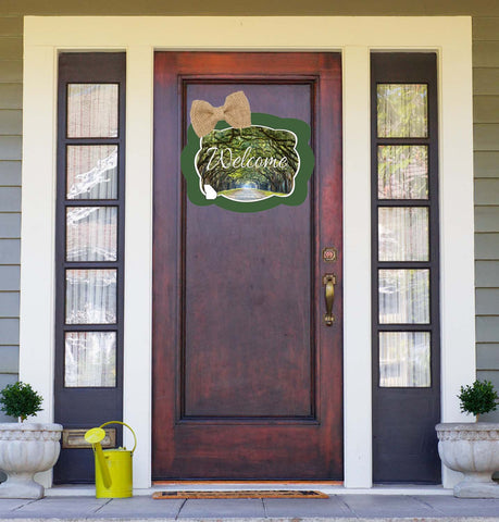 Georgia Oak Trees Door Hanger