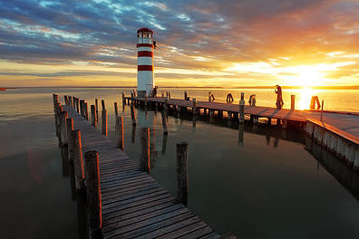 Lighthouse Pier Vinyl Print
