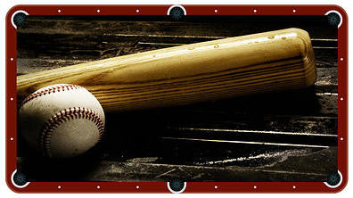 Baseball Billiards Cloth