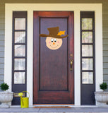 Scarecrow and Snowman Doublesided Sign or Door Hanger