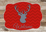 Chevron Buck Welcome Mat