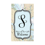 Nautical Initial Garden Flag Bundle