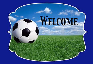 Soccer Welcome Mat