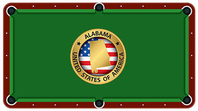 Alabama State Emblem Billiards Cloth