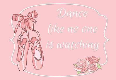 Dance Like None is Watching Ballet Welcome Mat