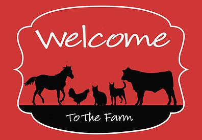 Welcome To The Farm Welcome Mat