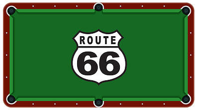 Route 66 Billiards Cloth