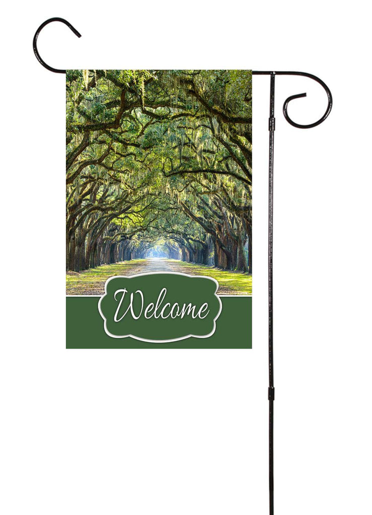 Georgia Oak Trees Garden Flag