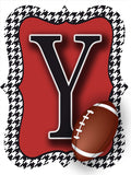 Houndstooth Football Door Hanger