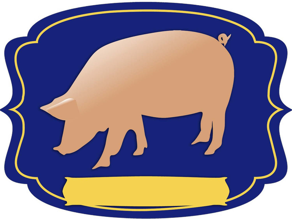 Pig Dry Erase Stall Sign or Door Hanger