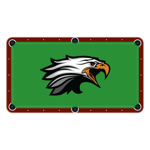 Eagles High School College Team Mascot Billiards Cloth
