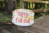 Happy Fall Y'all Door Hanger