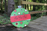 Polka Dots Christmas Ornament Door Hanger