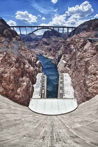 Hoover Dam Bypass Bridge Overlook Vinyl Print