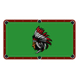 Indian High School College Team Mascot Billiards Cloth