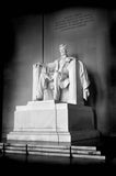 Black & White Lincoln Memorial Washington DC Decor Vinyl Print
