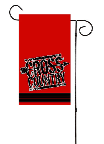 Cross Country Track Garden Flag
