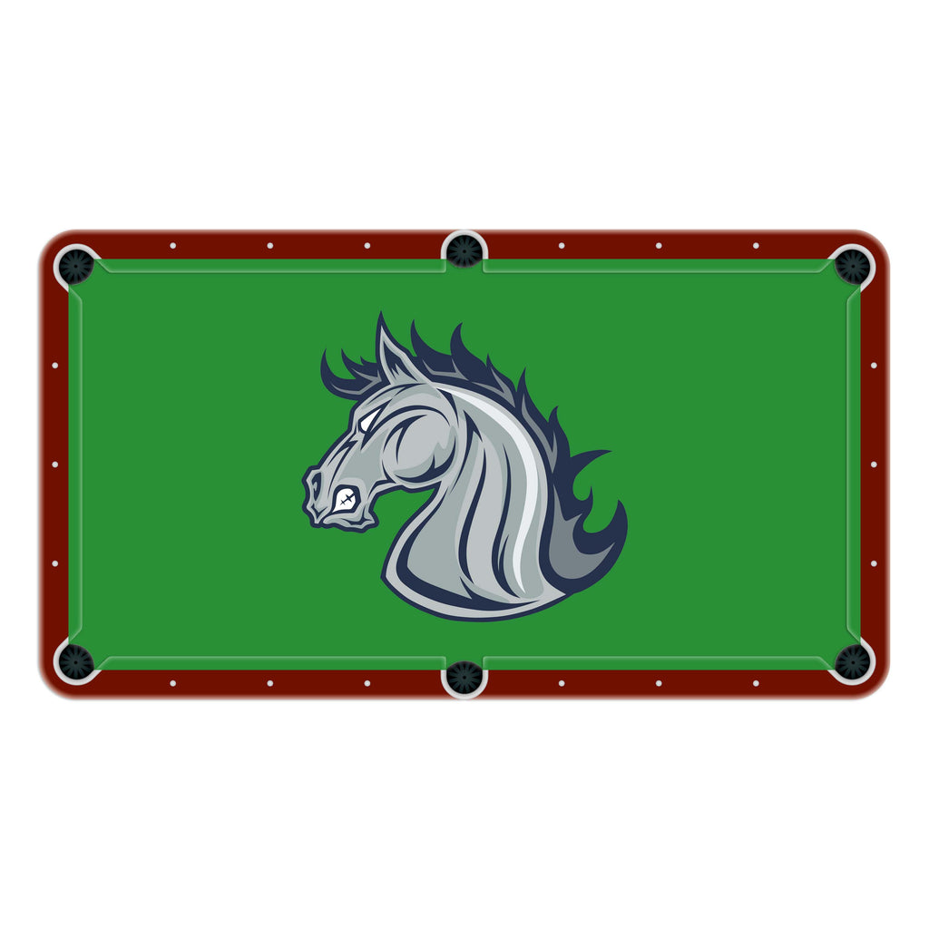 Stallions High School College Team Mascot Billiards Cloth