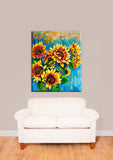 Sunflower - Oil Painting Look Vinyl Print