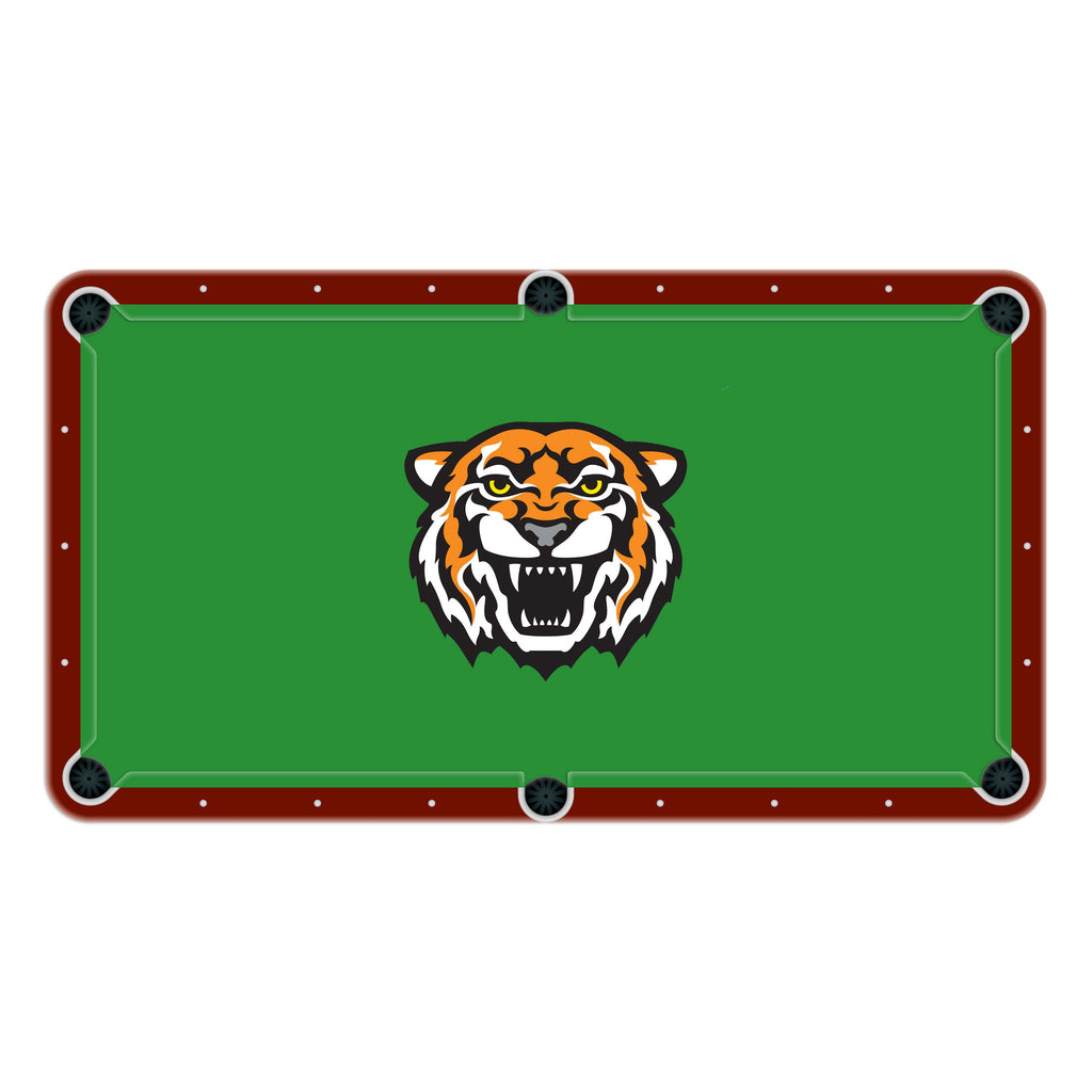 Tigers High School College Team Mascot Billiards Cloth