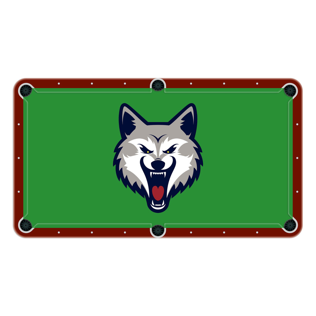 Wolf Wolves High School College Team Mascot Billiards Cloth