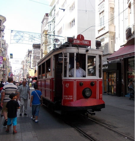 Tram from Tunel to Taksim, Istanbul