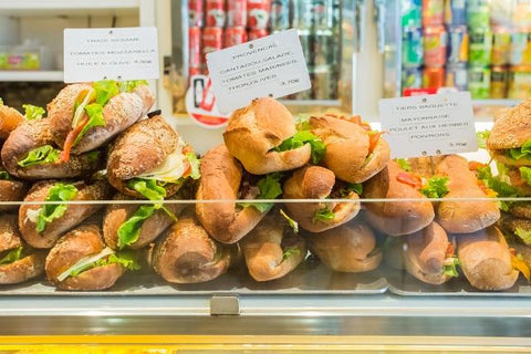 Takeaway sandwiches in Paris, France