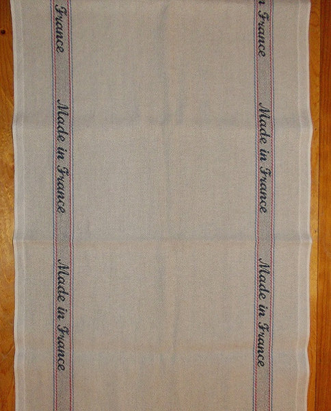 Table runner cotton linen, made in France